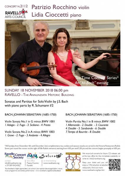 Tea Time Concert 3: J.S. Bach violin sonatas