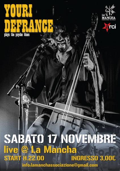 Youri Defrance [Psyché Blues from France] live at La Mancha