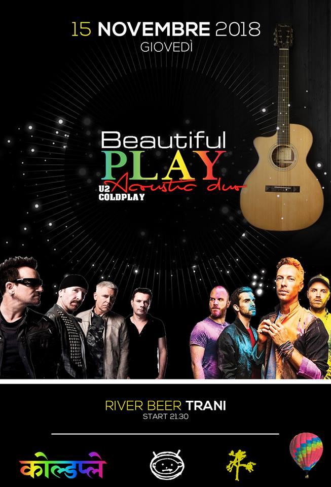 Beautiful Play U2 & Coldplay Semi-Acoustic Duo - River Beer