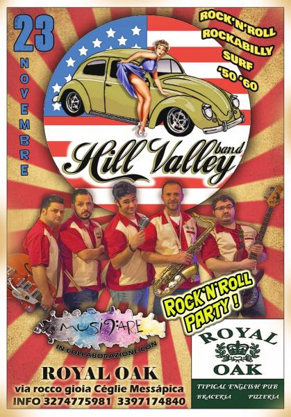 Rock'n'roll party al Royal OAK con la Hill Valley band