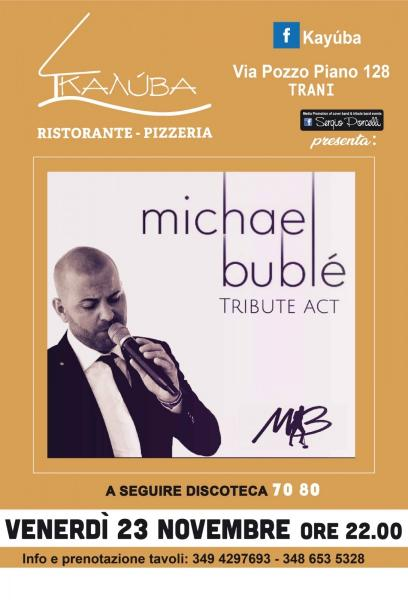 Michael Buble' tribute act duo a Trani