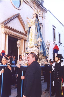 Processione dell'Immacolata, a cura della Arciconfraternita