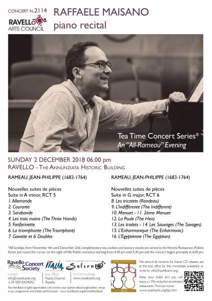 """Tea Time Concert 4: An """"All-Rameau"""" evening"""