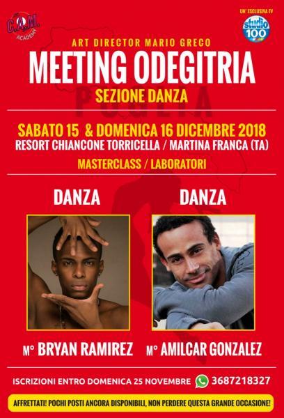 Meeting Odegitria - Sezione Danza / le iscrizioni scadono il 25 novembre!