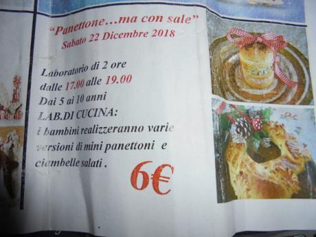 """Laboratorio di Cucina Natalizia"""" Panettone....ma con Sale"""""""
