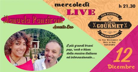 MANUELA PANZIRONI Duo ● Mercoledì LIVE da 'Il Pirata Gourmet'
