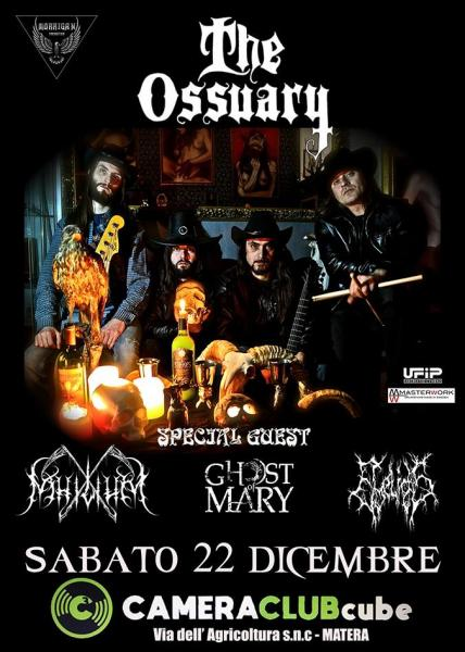 The Ossuary + Nihilium + Ghost of Mary + Eyelids live at CameraClub
