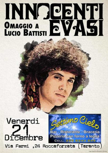 """Serata live con """"Innocenti evasi"""" la tribute band di Lucio Battisti"""