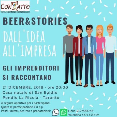 Beer&Stories - Dall'idea all'impresa. Gli imprenditori si raccontano
