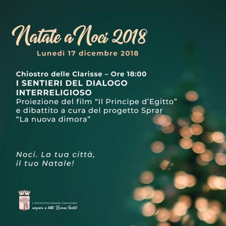 NATALE A NOCI 2018. I sentieri del dialogo interreligioso