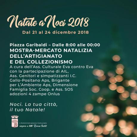 NATALE A NOCI 2018. Mostra-mercato natalizia dell'artigianato e del collezionismo