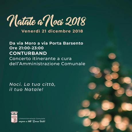 NATALE A NOCI 2018. Conturband