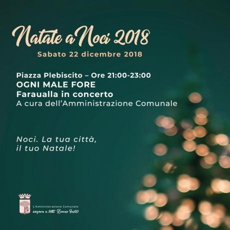 NATALE A NOCI 2018. Faraualla in concerto