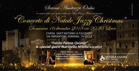 """CONCERTO DI NATALE """"JAZZY CHRISTMAS"""" A SANT'ANTONIO A FULGENZIO"""
