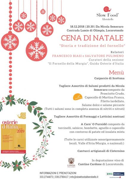 Cena di Natale - Storia e tradizione del Fornello della Murgia