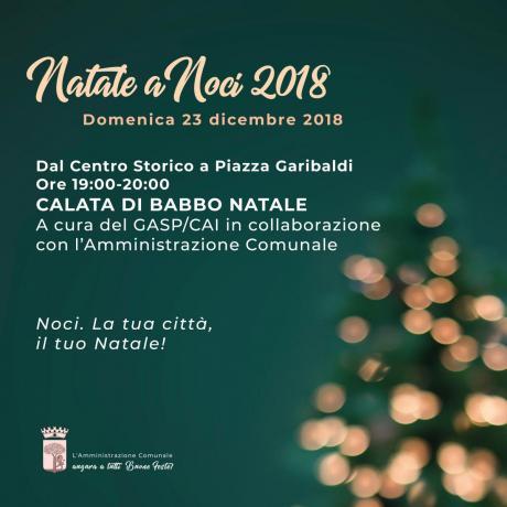 NATALE A NOCI 2018. Calata di Babbo Natale e Swing&Soda in concerto