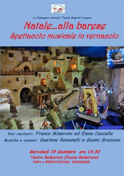 """""""Natale...alla barese"""" - Spettacolo musicale in vernacolo"""
