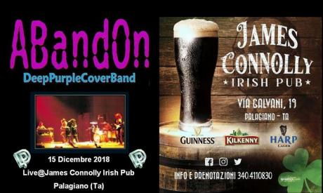 ABandOn - DEEP PURPLE CoverBand @Live JAMES CONNOLLY IRISH PUB (Palagiano - TA)