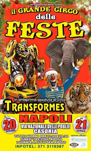 Il Circo delle Feste di Natale, arriva a Napoli