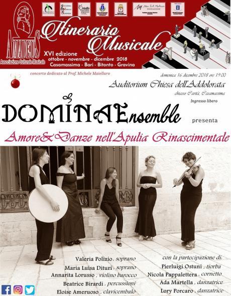 DOMINAE ENSEMBLE IN CONCERTO - Amore e Danze nell'Apulia rinascimentale