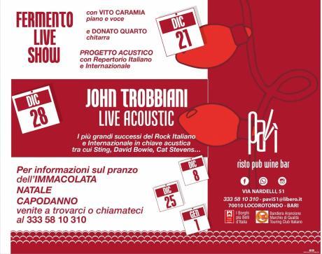 Fermento live show in concerto al Pavì