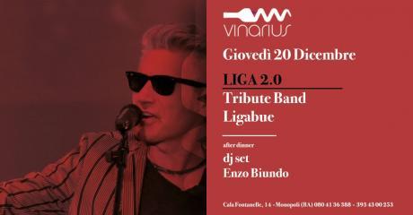 Giovedì 20 Dicembre sul palco del Vinarius i Liga 2.0 - tribute band di Ligabue