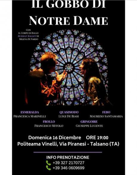 """""""IL GOBBO di NOTRE DAME"""" Compagnia Garbo Teatrale Politeama Vinelli"""