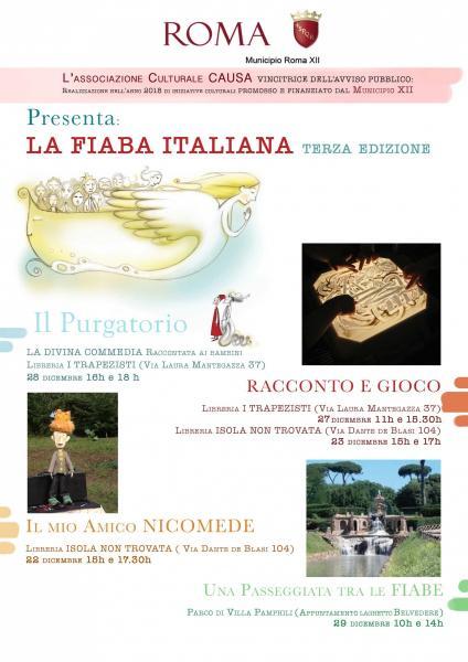 LA FIABA ITALIANA  spettacoli e laboratori GRATUITI nel XII Municipio