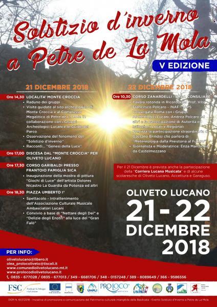 Ritorna il Solstizio d'Inverno ad Oliveto Lucano