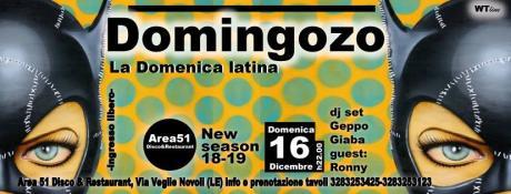 """Giaba, Geppo e Ronny per la domenica latina dell'Area51 di Novoli: tutti in pista con """"Domingozo"""""""