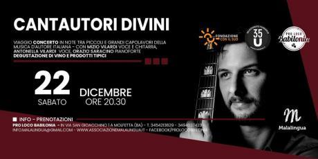 Cantautori Divini - Concerto con Mizio Vilardi, Orazio Saracino e Antonella Vilardi