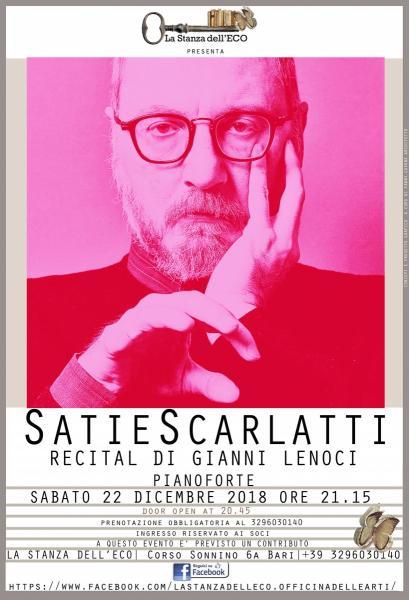 """SatieScarlatti"" con Gianni Lenoci"