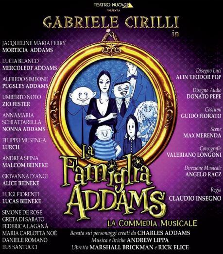 La Famiglia Addams, la commedia musical