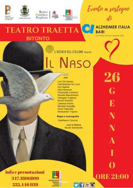 """""""il Naso"""" da """"i Racconti di Pietroburgo"""" di Nikolaj Gogol """"Evento a Sostegno Alzheimer Bari"""""""