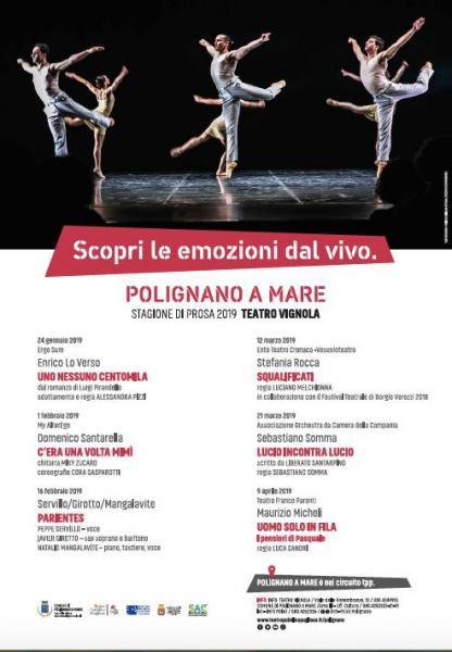 Teatro VIGNOLA Stagione teatrale di prosa 2018 - 2019