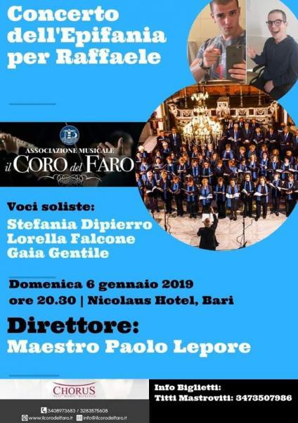 Il Coro del Faro del M° Paolo Lepore in concerto di beneficenza per Raffaele