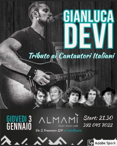 Gianluca Devi - Tributo ai Cantautori Italiani @ Almamì - Castellaneta