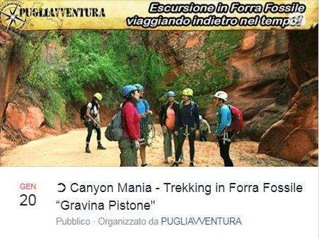 "Canyon Mania: Trekking in forra fossile ""Gravina Pistone"""