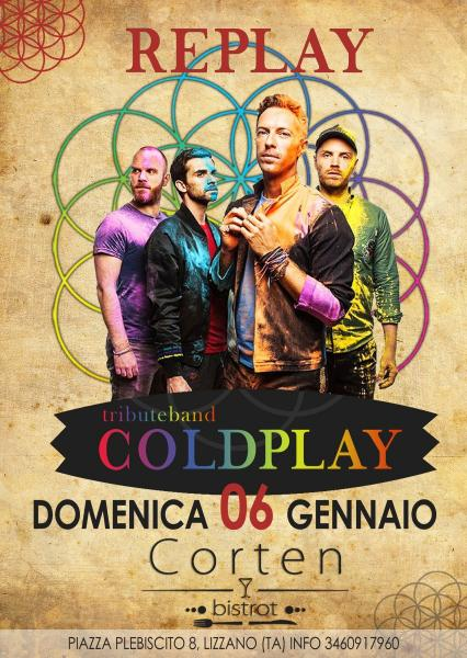Replay-Coldplay tribute band live al Corten bistrot