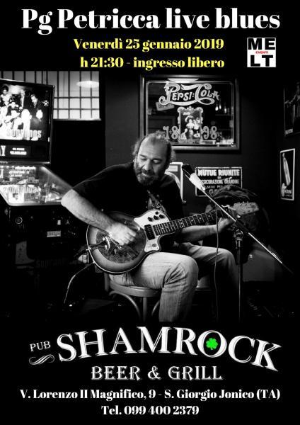 Pg Petricca live blues allo Shamrock Pub Taranto