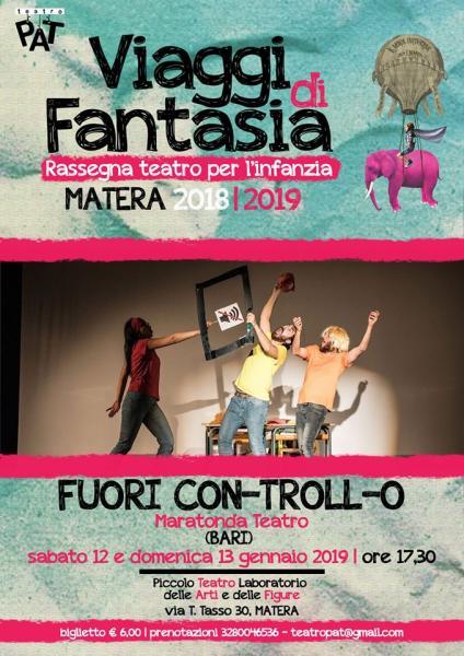 """Teatro PAT propone """"Fuori Con-Troll-o"""""""