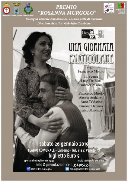 """""""UNA GIORNATA PARTICOLARE"""" Premio Rosanna Murgolo Carosino"""