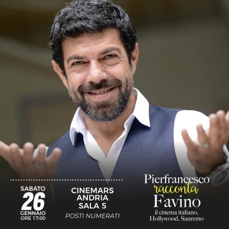 "Pierfrancesco Favino ad Andria in ""Pierfrancesco racconta Favino"""