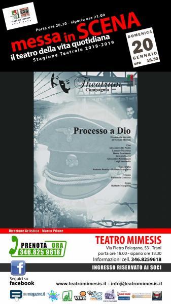 PROCESSO a DIO due atti di Stefano Massini - regia Raffaele Margiotta
