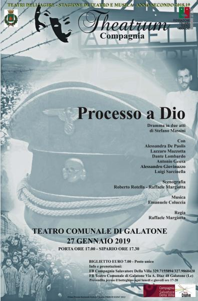 Processo a Dio di Stefano Massini per il Giorno della Memoria