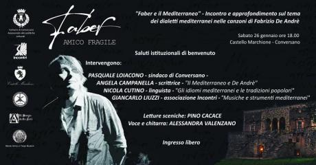 """""""Faber e il Mediterraneo"""" - Incontro e approfondimento sul tema dei dialetti mediterranei nelle canzoni di Fabrizio De Andrè"""