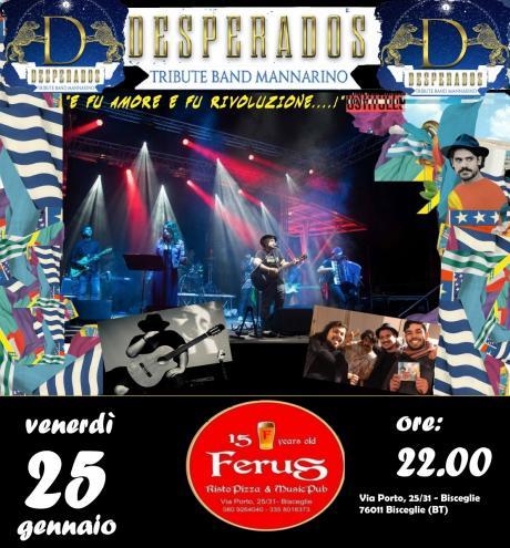 "MANNARINO special tribute live @ FERUS con i ""DESPERADOS"""