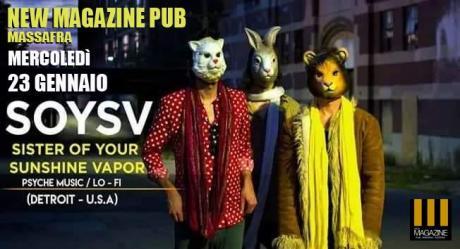 SOYSV Psyche music / Lo - Fi from Detroit (USA) Live at New Magazine Pub