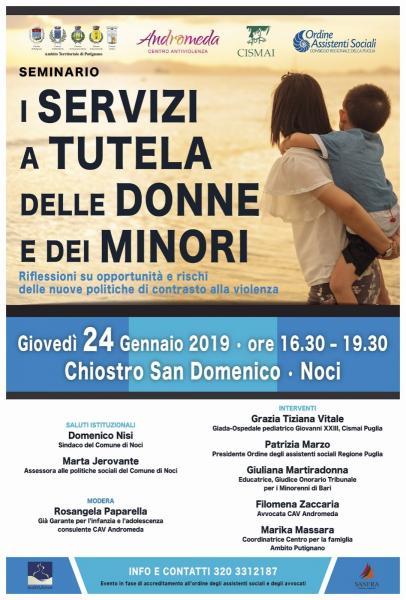 """Seminario """"I Servizi a tutela delle donne e dei minori"""""""