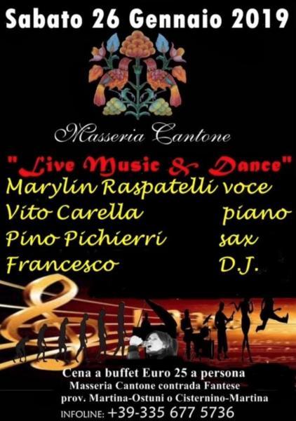 Live Music & Dance: Marylin Raspatelli, Pino Pichierri, Vito Carella Trio
